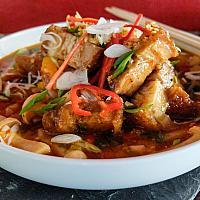 64 Szechuan Peppercorn & Chili with Crispy Pork Belly   (หมูสามชั้นผัดซอสเสฉวน)