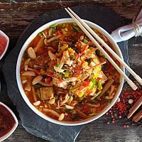 66 Szechuan Peppercorn & Chili with Bean Curd (Tofu)  (เต้าหู้ผัดซอสเสฉวน)