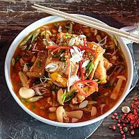 87 Braised Pork Ribs in Spicy Szechuan Sauce (Hot)  (ซี่โครงหมูผัดซอสเสฉวน)