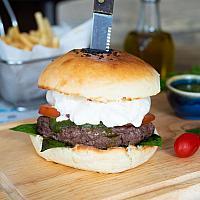 Burrata wagyu beef burger
