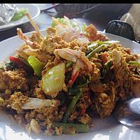 Fried crab with indian curry powder