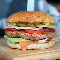 Vegan classic omnipork burger