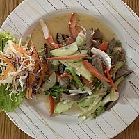 Grilled beef spicy salad