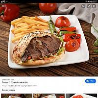 Lamb kebab bread