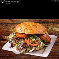 Lamb kebab burger