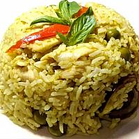 Fired rice with green curry