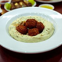 Hummus with Falafel