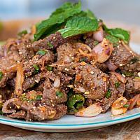 Pork Namtok with Sticky Rice
