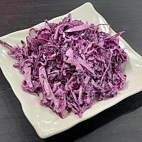 Red cabbage salad with mayonnaise