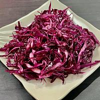 Sour red cabbage salad