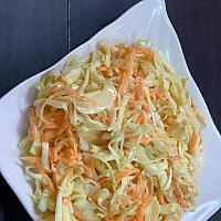 White cabbage & carrot with mayonnaise
