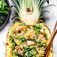 Fried Rice with Pineapple & Prawns