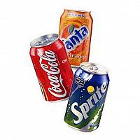Soft Drinks Coke Sprite Fanta
