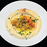 Hummus with granules