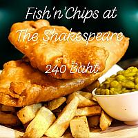 Fish n Chips served with Mushy Peas