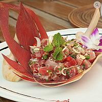 "Fusion Tuna ""Thai style Catalan"" salad"
