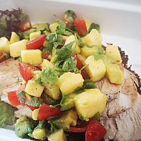 Chicken mango avocado salsa