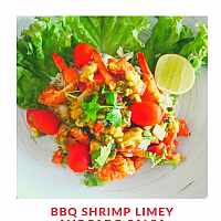 BBQ Shrimp Limey Avocado Salsa