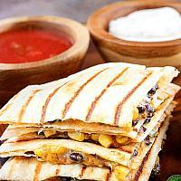 Mexican Quesadilla with Vegan Cheddar & Mozzarella