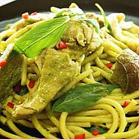 Spaghetti Green Curry