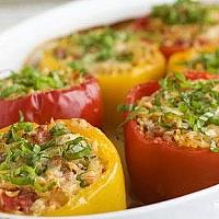 Stuffed bell peppers with meat