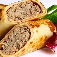 Pancake with meat