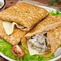 Pancake with mushroom and cream 1pc
