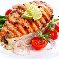Стейк семги(Salmon)на гриле