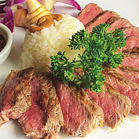 Sliced Australian beef