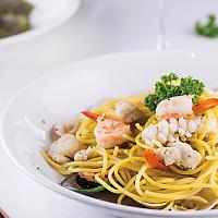 Seafood white wine sauce