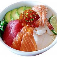 Deluxe Sashimi Rice Bowl