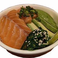 Salmon Avocado Rice Bowl