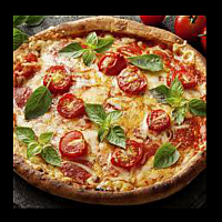 5.Margherita tomato Cherry+(Buffalo Cheese )pizza