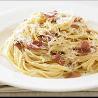 65.Bacon Garlic cream sauce pasta