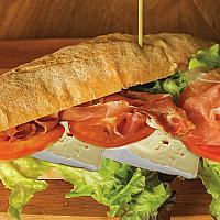 Panini - Speck & Brie cheese salad, tomato