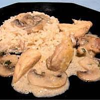 Aiguillettes de poulet rôties, sauce aux champignons