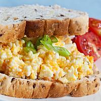 Egg Celery Salad on Toast