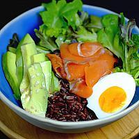 Smoked Salmon Salad with Rice