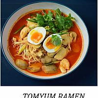 Tom Yam Chicken Ramen  (ต้มยำ ชิกเค่น ราเมน)