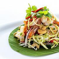 Green mango Salad with prawns