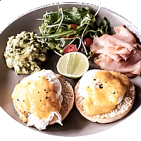 Eggs Benedict with Salmon & Avocado