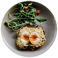 Hummus & Egg on Toast