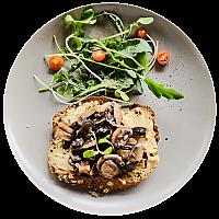 Hummus & Mushroom on Toast