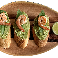 Avocado & Shrimp Crostini