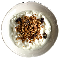 Home made Granola with Milk or Yoghurt