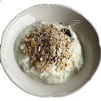 Homemade Muesli with Milk or Yoghurt