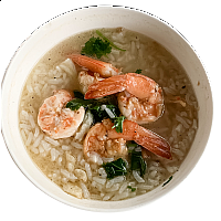 Rice Porridge with Pork, Chicken or Shrimp