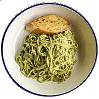 Spaghetti Cream Pesto