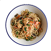 Spaghetti Khee Mao Chicken or Shrimp (Spicy)