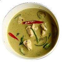 Green Curry w/steamed rice
